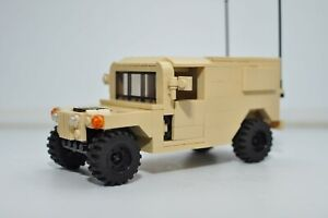 Custom Military HMMWV Truck Army Tan Model built with authentic LEGO bricks