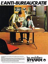 PUBLICITE ADVERTISING 045  1979  STRAFOR  mobilier de bureau