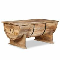 vidaXL Coffee Table w/ a Compartment Solid Mango Wood Side Living Room Couch