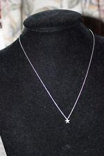 GENUINE LINKS OF LONDON STERLING SILVER DIAMOND ESSENTIALS STAR PENDANT 45 CM