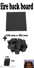 FIREPLACE 20 Gas Replacement Coals 35 mm Square &Plain Effect Fire Back Board