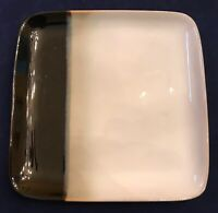 "Sango ECLIPSE BLACK 4975 7 3/8"" Square Salad Plates Lot of 4 EUC"