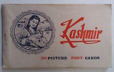 20 PIECE ANTIQUE  ALBUM INDIA PICTURE  POSTCARDS KASHMIR