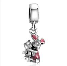 DIY Silver European CZ Charm Rabbit bear Spacer Beads Fit Necklace Bracelet