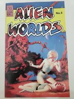 ALIEN WORLDS #5 (1983) PACIFIC COMICS 1ST PRINT! AMAZING JOHN BOLTON COVER!