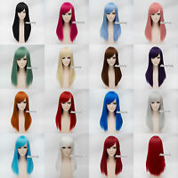 55CM Women 21 Colors Long Straight Costume Lolita Cosplay Gift Party Wig Basic