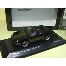 PORSCHE 911 CARRERA CABRIOLET Serie G 1983 Noir Black  MINICHAMPS 1:43