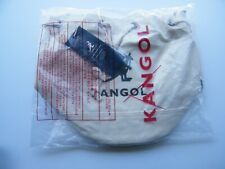 NEW KANGOL ALICE SHOULDER IVORY CANVAS BUCKET TOTE CARRY ON TRAVEL BAG 3738 !
