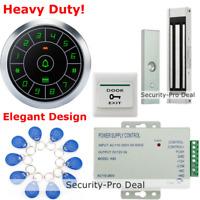 Waterproof RFID Card+Password Door Access Control System+Door Magnetic Lock+EXIT