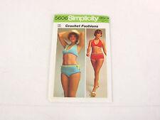 Vintage 1973 Simplicity 5606 (2) One Size Crochet Bikini Patterns w Instructions