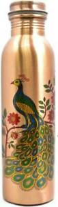 PURE COPPER PEACOCK PRINTED WATER BOTTLE 1000 ML