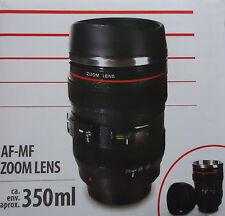 AF Zoom Kameraobjektiv Thermobecher / Kaffeebecher mit Edelstahleinsatz - 0,35l