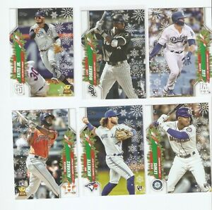 2020 Topps Walmart Holiday Base #1-200 You Pick PYC COMPLETE YOUR SET
