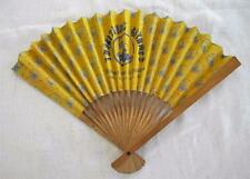 "VINTAGE 1990's FRENCH WOOD & PRINTED PAPER ""GYPSY TRADITIONS""  ADVERTISING FAN"