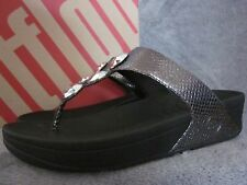 FITFLOP Petra Womens Metal Studded Pewter Thong Sandals Shoes US 7 M EUR 38 NWB