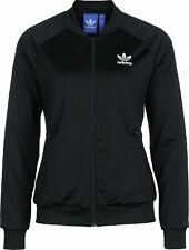 Adidas Superstar Women's Track Top Tracksuit Top Jacket AZ4104 UK 8 - Black