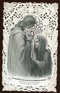 Canivet XIX° - IL DEMEURE EN MOI. Holy card, Santino, Bouasse Lebel, n°807.