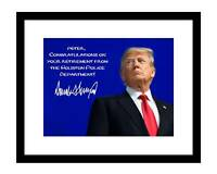 Donald Trump 8x10 personalized Signed photo picture autographed YOUR NAME maga