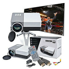 GM50 Portable Mini LED LCD 3D HD Home Projector 1080p with Cable/Tripod HDMI US