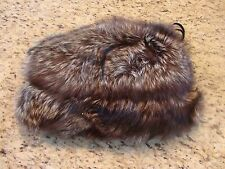 VINTAGE Black Brown Fur Purse **Unknown fur**