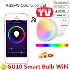 Smart Bulb WiFi GU10 RGBW Led Dimmable Compatible RC with Alexa & Google Home NJ