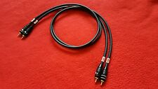 Pair Mogami 2534 Interconnect Audio Cable Nakamichi RCA Connector Plug Black 3ft