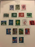 Early Germany Stamps on 7 album pages 1970-1974 Collection