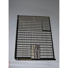 PHD001: photo découpe lettre + chiffre + michelin en 1/10mm -phd001