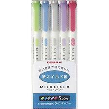 Zebra Mildliner highlighter - Cool & Refined Color Set (5/pk)