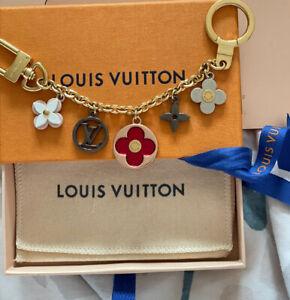 Louis Vuitton Flash Floral Bag Charm Gold