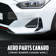 Aero Parts Front Bumper Air Duct Canard Wing 2Pcs for for HYUNDAI 19-20 Veloster