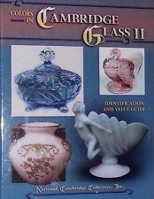 CAMBRIDGE GLASS VALUE GUIDE COLLECTOR'S BOOK OPAL TURQUOISE BLUE GREEN AMBER+