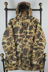 VTG 80s COLUMBIA Size Medium GoreTex Made in USA Hooded Camo Hunting Jacket Coat