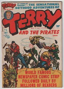 M1464: Terry and the Pirates #6, Vol 1, VG Condition