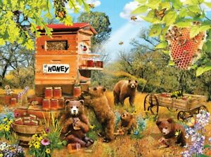 Jigsaw Puzzle Bears and Bees 1000 Piece New by Lori Schory forSunsOut