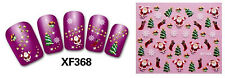 Hot Christmas Wrap Designs 3D Nail Art Stickers Foil Tips decals DIY Gift NEW