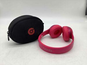 Pink Solo Beats Headphones in Black Soft Case