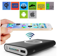 Qi Wireless Charging Power Bank External Battery Charger for Cell Phone iPhone