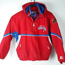 Vintage Montreal Canadiens XL Starter Jacket NHL Pullover Winter Hooded Quilted