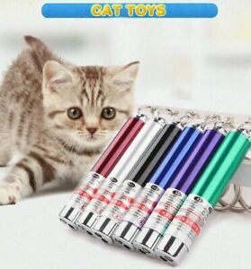Powerful Red laser lazer pointer pen interactive cat toy with LED light(2 In 1)