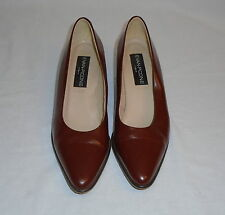 Evan Picone Womens Brown Patent Leather Pump Heels 1 3/4 Inch Heels Italy 8M