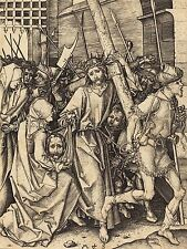 MARTIN SCHONGAUER GERMAN BEARING CROSS SAINT VERONICA ZOOLOGY ART PRINT BB6136A