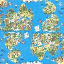 2 Serviettes papier Carte du monde pour enfant Paper Napkins World for Kids