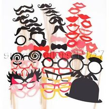 50PCS Party Masks Photo Booth Props Mustache On A Stick Wedding Party Favor USA