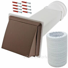 """Venting Kit For Kenwood Tumble Dryer Vent External Wall Outlet 4"""" 100mm Brown"""