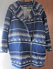 TOPSHOP Navy Blue Cocoon Coat US Size 12 Brand New With Tags