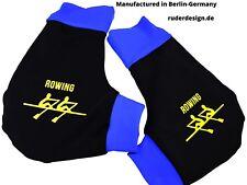 Handschuhe, Ruderhandschuhe Schwarz ( schwarz/royal) Aufdruck, Rudern, Rowing