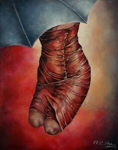 Portrait Öl Gemälde einer Frau moderne Personen Malerei Original 80x100 cm