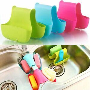 Kitchen Sink Caddy Organiser Tidy Double Sponge Holder Bathroom Saddle Colours
