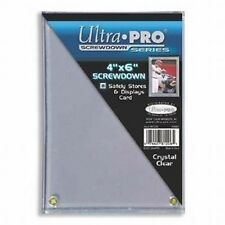 (5 Ct Lot) Ultra Pro 4x6 Screwdown Large Card Holder Protection Postcards Photos